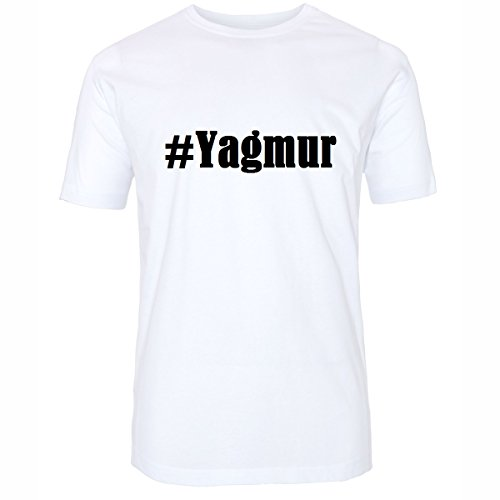 T-Shirt #Yagmur Hashtag Raute für Damen Herren und Kinder ... in den Farben Schwarz und Weiss Weiß