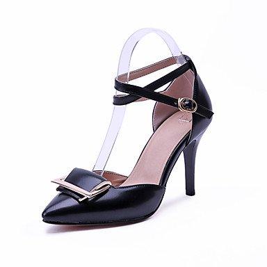 Zormey Sandales Femmes Été Automne Club Confort Chaussures À Bride Pu Mariage &Amp; Tenue De Soirée Talon Rouge Noir Blanc À Boucle US3.5 / EU33 / UK1.5 / CN32