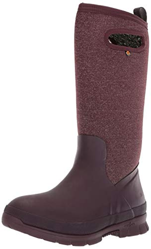 Bogs Crandall Tall Womens Insulated Boots 38 Wine (Rain Insulated Womens)
