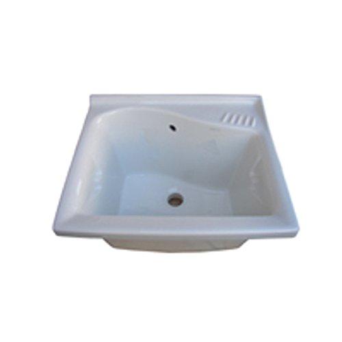 DOLOMITE serie Lago J089200 SOLO Lavatoio da incasso 61x50 in ceramica bianco europeo