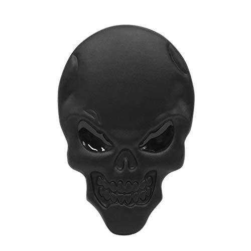 Sourcingmap-Deodorante per auto con teschio e ossa, colore: nero in rilievo, emblema decorativo autoadesivo, motivo: stemm