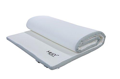 Ebitop Matratzenauflage, Visko-Matratzenauflage, EBI - A 160.4 Mlily matratzenauflage, Auflage, viscoelastische Topper 160x200x4 cm, weiß