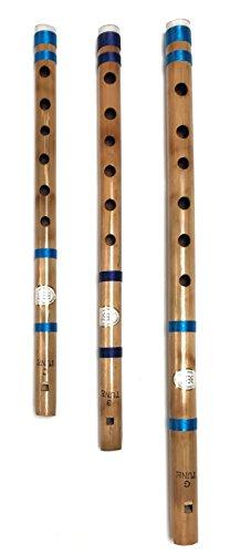 Professionelle Konzert-Flöten 33- 43,2 cm Bansuri-Bambus-Flöten-Blockflöten, 3 Stück
