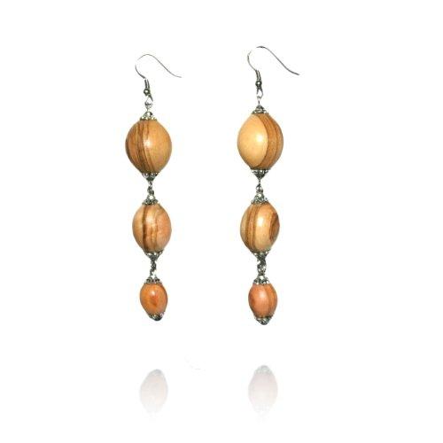 handmade-olive-wood-three-beaded-earrings-fair-trade