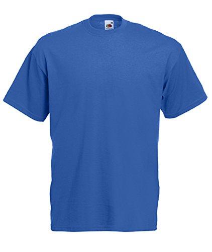 Fruit of the Loom Herren T-Shirt im 5er Pack in allen Farben und Größen S-5XL Royalblau