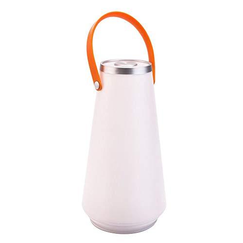 RIsxffp Tragbare Schreibtischlampe, USB, wiederaufladbar, Camping Lampe mit Nachtlicht, Anhänger verstellbar weiß -