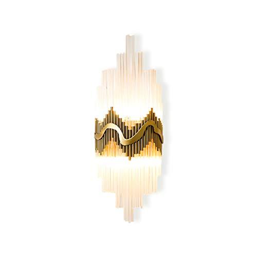 Landdeng cristallo decorativo parete lampada villa camera da letto corridoio comodino bathrooom luce lampada da parete e14 led lampadina di vetro