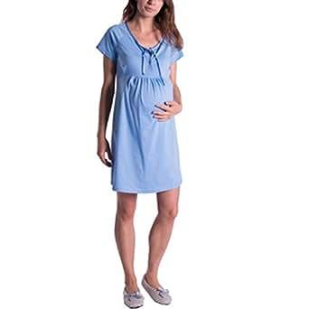 più recente 0fc41 d1a90 Camicia da Notte Premaman Cotone Vestito Maternita Donna ...
