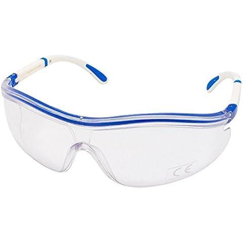 21 Virages - Occhiali trasparenti da ciclismo, Blu (Bianco/Blu), Taglia