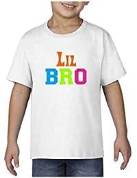 YaYa cafe Bhaidooj Kids Boy T-Shirt Colorful Lil Brother Printed Cotton