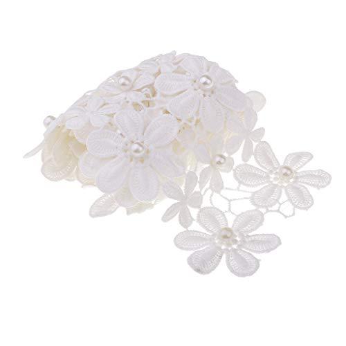 IPOTCH 1 Yard Lace Ribbon Daisy Blumen Spitzenborte Gehäkelt Lace Trim Nähen Dekoration Für Hochzeit Kostüm -
