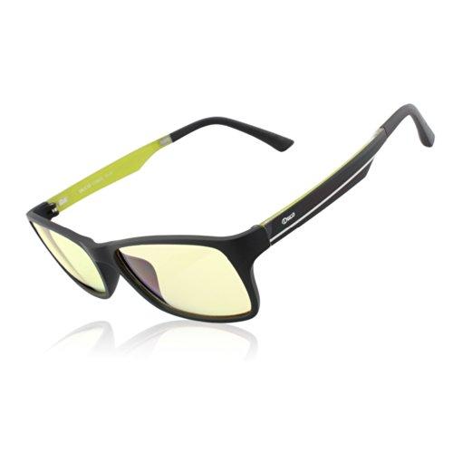 DUCO Blaulicht Schutzbrille Gaming Brille Blaulichtfilter 223 (Gelb/Bernsteinfarbe)