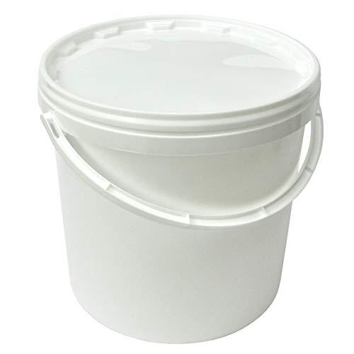 Cubo de plástico con asa y tapadera