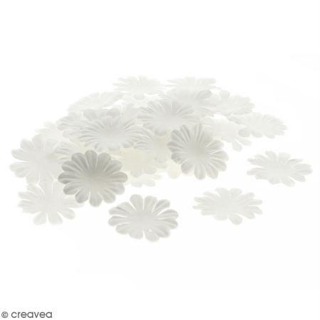 Fleurs en papier - Marguerites Blanches - 4 cm - 100 pcs