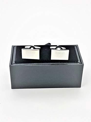Manschettenknöpfe bester Trauzeuge eckig Hochzeit Geschenk Idee best man Edelstahl in Geschenkbox (Geschenke Für Trauzeugen Ideen)