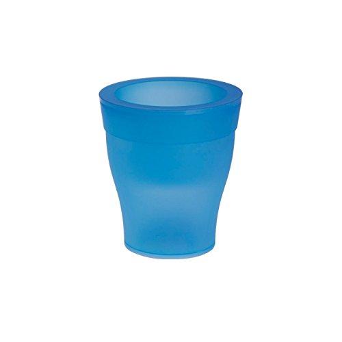 Cache-pot - LED - D 17 cm x H 19 cm - Bleu