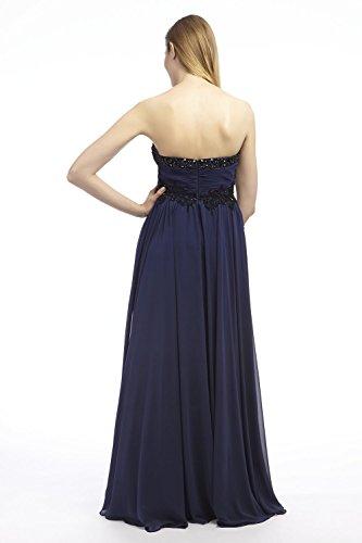 Dynasty Evening 1012429-Vestito  Donna Blau - Navy & Black