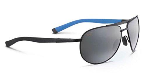 Maui Jim 297-2M Schwarz Blau Leeward Coast Aviator Sunglasses Polarised Driving Lens Mirrored