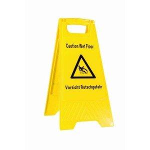 """ShopDirect Warnschild Hinweisschild \""""Vorsicht Rutschgefahr\"""" Warnaufsteller Aufsteller gelb"""