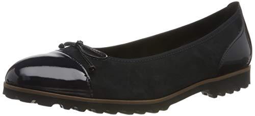 Gabor Shoes Damen Casual Geschlossene Ballerinas, Blau (Pazifik (Cognac) 36), 39 EU