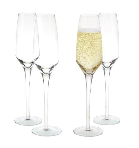 4 Piece Elegant Champagne Flutes