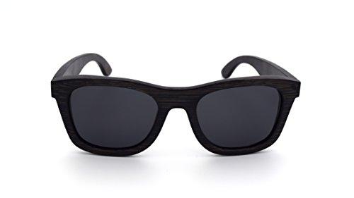 Lemiel - l'eco-occhiale in legno nr.1 in germania - wayfarer e custodia in bambù vero - occhiali da sole polarizzati - donna e uomo - buy one. plant one. (bamboo 100%)