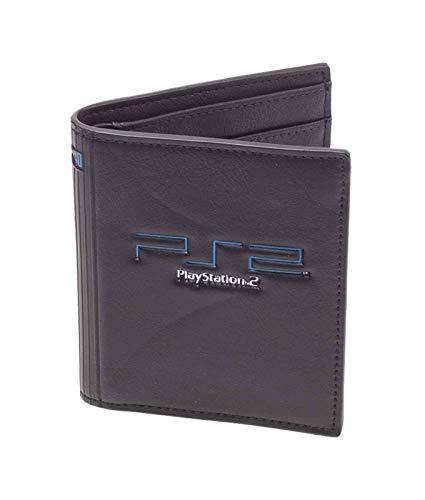 PlayStation Brieftasche PS2 Logo Nue offiziell Gamer Schwarz Bifold