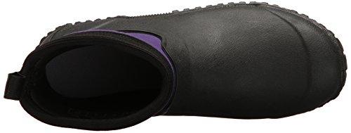 Muck Boots Women's Muckster II Ankle, Stivali di Gomma Donna Nero (Black/purple)