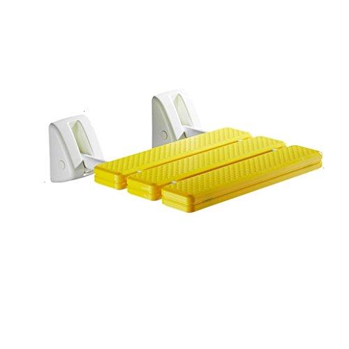 Preisvergleich Produktbild Badezimmer Gelb ABS Anti-Rutsch-Bad Stuhl Wand-Klappstuhl Hocker Ältere / Schwangere Frauen / Behinderte Änderung Schuhe Hocker Baden Safe Sitz Stuhl max. 200 kg
