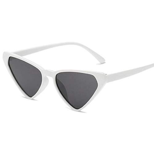 FILTERQ Neu für Mädchen & Damen verspiegelte Sonnenbrille 1950 Cool Cat Style Triangle Black Frames Outdoor Brille Ms Uv400 Schutz,F7