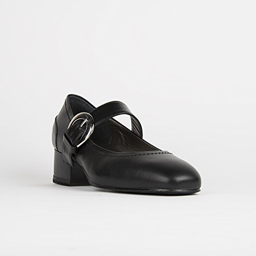 Damen-Tanzschuhe Leder für Ballett Tanz Training Gymnastik Turnen Fitness Schwarz