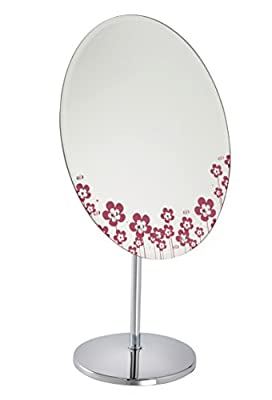 Fancy Metal Goods Oval Dressing Table/Bathroom Mirror with Heart Decoration - cheap UK light shop.