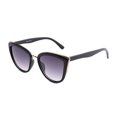 YOGER Sonnenbrillen Hot Fashion Cat Eye Sonnenbrille Frauen Retro Halb Metallrahmen Gläser Vintage Sonnenbrille Weibliche Niet Shades