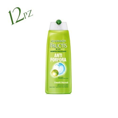 Fructis Garnier Shampoo 12x 250ml Antischuppen normalen FORTIFICANTE