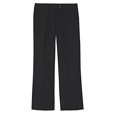 Women's Straight Leg Work Trousers (Sizes 8-14) Pinstripe Formal Office Pants For Business