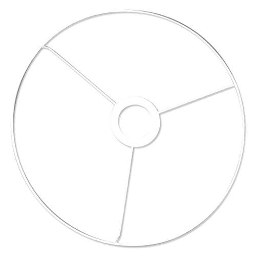 RAYHER 2300200 Ring mit Kreuz, 40 cm Durchmesser, weiß beschichtet