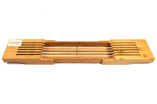 Woodluv Luxus Bambus Badewanne Rack Regal/Bad Brücke, Natur
