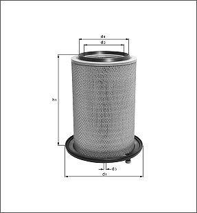 Preisvergleich Produktbild Mahle Knecht LX 450 Luftfilter