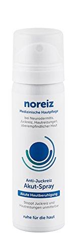 noreiz Anti Juckreiz HAUT Akut-Spray · Medizinische Creme Hautpflege · akute Hilfe bei Neurodermitis, Juckreiz, überempfindlicher Haut, Hautreizungen · ohne Kortison · MADE IN GERMANY (50ml) (Anti-ausschlag-creme)