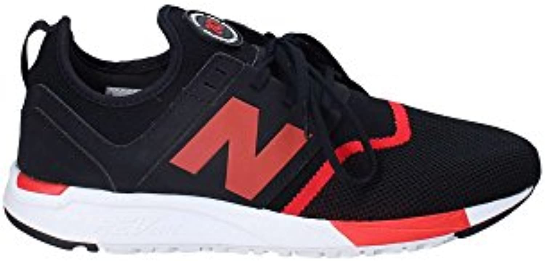 New Balance Hombres Negro/Rojo 247 Sport Zapatillas