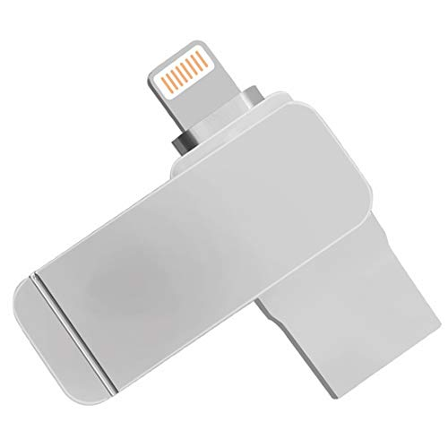 Jiuyizhe Flash Memory Stick Swivel USB 3.0 in Silber, Memory Stick USB Stick 3in1 Richwell Auf Android-Geräte, Computer und iOS-Geräte anwenden (Capacity : 128GB, Color : Silver)