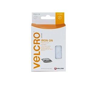VELCRO Brand Iron on Tape, 20 mm x 1 m - White