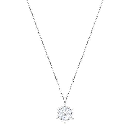 Swarovski Magic Anhänger für Frauen, weißes Kristall, rhodiniert