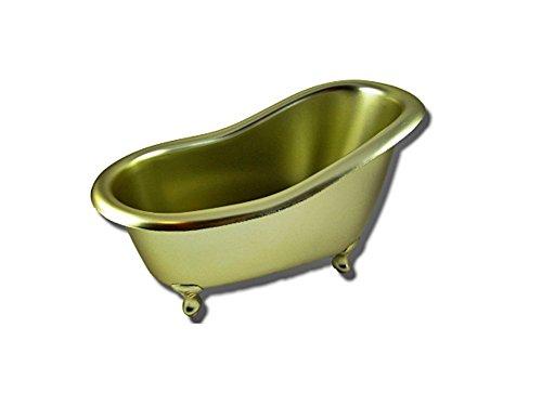 Seifenschale Badewanne Acryl gold groß