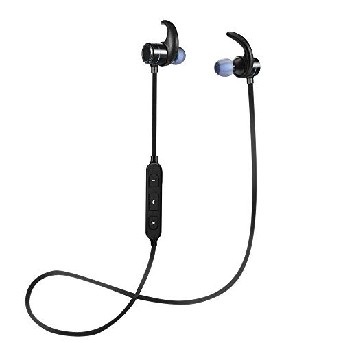Ecouteur Bluetooth sans Fil 4.2 Intra auriculaire Magnétique Sport Longue Autonomie 10h [Garantie 12 Mois] Ipx5 Waterproof Kit Main Libre Haute Qualité compatibilité Universelle