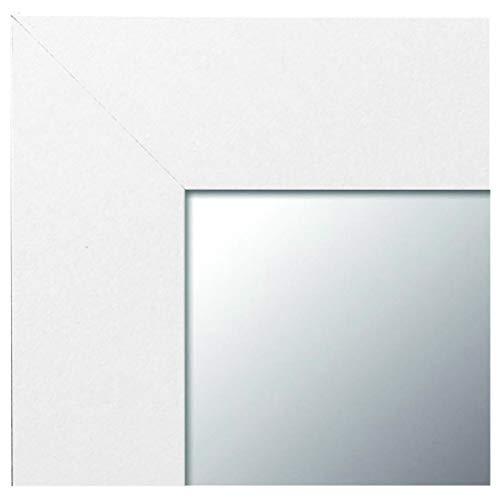 -Espejo Fabricado en España- Espejo Decorativo de Pared 64x84 Modelo 142 Blanco, Ideal para salón...