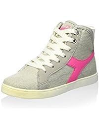 Diadora Sneaker Alta Game Canvas H Jr Grigio/Bianco EU 30 Suministro Gratuito De Envío HxcaxWc6