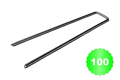 100 Garden Staples EXTRA STRONG and GALVANIZED - 6