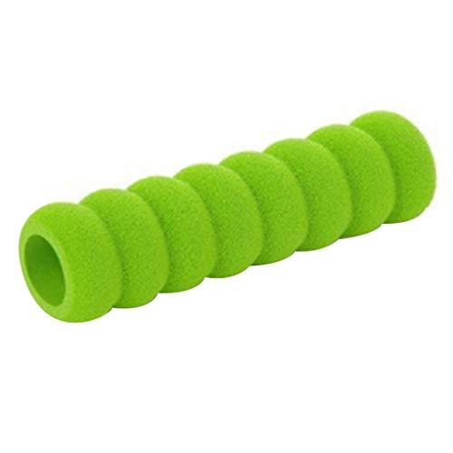 Lidahaotin 2 Stück Türgriff-Schutz-Spiral-Abdeckung für Kids Safety-Weicher Hülsen Stop-Schaden von Kind-Haupt Grün -