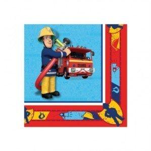 (20 Feuerwehrmann Sam Papier Servietten)